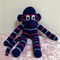 Sock Monkey - dark blue with red and light blue stripes