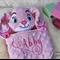 Minky Bunny 'Ruggybud' - personalised, comforter, keepsake, lovey.