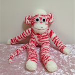 Sock Monkey - Red and White