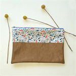Bush Walk with Tan Pleather Nappy Diaper Carry All Clutch Pouch Wallet