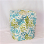 Thermomix Cover - Standard - Turquoise Dahlia