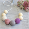 Crochet Wood Bead Necklace Sensory/Nursing Mum & Bub Jewellery