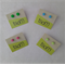 Basic stud earrings - brights: pink, green, light green, blue