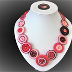 Beaut Buttons - Inky Pinky button necklace