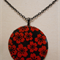 Pendant - Red and Black