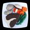 FELT FOOD STEAK POTATOES CARROTS DINNER MEAL