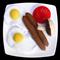 FELT FOOD SAUSAGES EGGS BREAKFAST MEAL