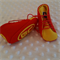Pure wool hand stitched baby shoes / booties - Footy boots - Gold Coast