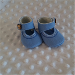 Pure wool hand stitched baby shoes / booties - embroidered silk chain stitch