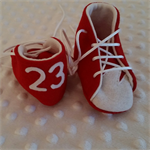 Pure wool hand stitched baby shoes / booties - Footy boots - Swans