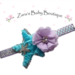 Mermaid Headband * Starfish Headband * Baby * Girl's * Photo Prop * 3 Colours