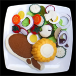FELT FOOD SALAD CHOP CORN MEAL