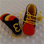 Pure wool hand stitched baby shoes / booties - Footy boots - Adelaide