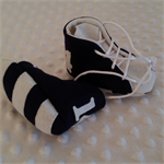 Pure wool hand stitched baby shoes / booties - Footy boots - Geelong