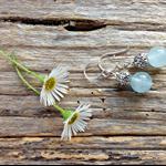 Ice Blue Brazilian Aquamarine Gemstone Drop Earrings, Mother's Day, Gift