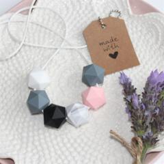 Silicone Bead Nursing Necklace Stylish Mum Jewellery BPA FREE