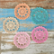 Crochet doily in colour of your choice, home decor, flatlay prop, appliqué
