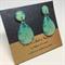 Blue Water Stud Earrings - FREE POSTAGE