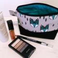Zippered Pouch / Purse / Case Makeup - Geometric Fox