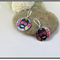 ROSES, DAY OF THE DEAD, GRAPHIC PRINTED SUBLIMATION EARRINGS