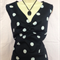 LADIES BLACK & WHITE POLKA DOT   TOP size 16