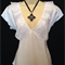 ladies cute white top with lace trim size 14