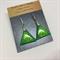 Triangle Earrings - Green - FREE POSTAGE