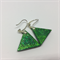 Triangle Earrings - Green - FREE POSTAGE