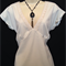 LADIES LOVELY CREAM TOP WITH LACE TRIM SIZE 14