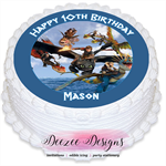 How to Train Your Dragon Personalised Round Edible Icing Cake Topper - PRE-CUT