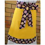 Yellow Half Apron with Aboriginal Dot Print Ties
