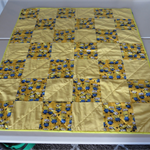 Handmade Cot Quilt 100% Cotton.  97 x 113 cm.