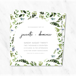 Personalised & Double-Sided Leafy Engagement Invitations