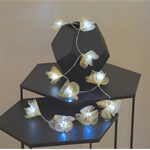 30 LED Flower Fairy Lights ;Champagne gold or Pink;Battery operated