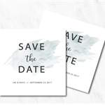 Blue Watercolour Save the Date Card