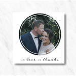 Personalised, Double Sided Wedding or Engagement Thank You Card with Photo