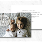 Baby Announcement Card Double Sided with Photo
