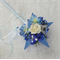 Flower Girl Floral Wand - Blue Star Wand with Butterflies for Flowergirl