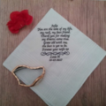 OWN WORDING personalised Hanky/Bride Hankie/Handkerchief wedding