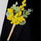 Australian Golden Wattle Buttonhole for Groom or Groomsman - Aussie Wedding