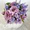 Silk Flowers in Teapot, Mauve Flowers - Table Flowers, Wedding Centrepiece
