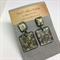 'Fleur de Lis' Square Earrings - FREE POSTAGE