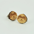 Sloth Wooden Earring Studs