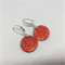 Classic Red Circle Earrings - FREE POSTAGE