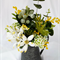 Australian Native Flower Arrangement in Vintage Tin Jug - Wedding Centrepiece