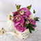 Mauve Silk Flowers in Watering Can - Table Flowers - Centrepiece for Wedding