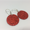 Classic Red Statement Earrings - FREE POSTAGE
