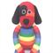 'Dexter' the Sock Dog -  rainbow stripe - *READY TO POST*