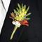 Australian Native Flowers, Wattle, Kangaroo Paw - Aussie Wedding Boutonniere