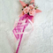 Flower Girl Floral Wand - Pink Star Wand with Butterflies for Flowergirl